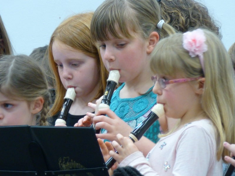 Young recorder players.